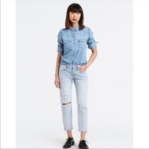 Levi's 501 DIY Cropped Taper Jeans Part Time Lover